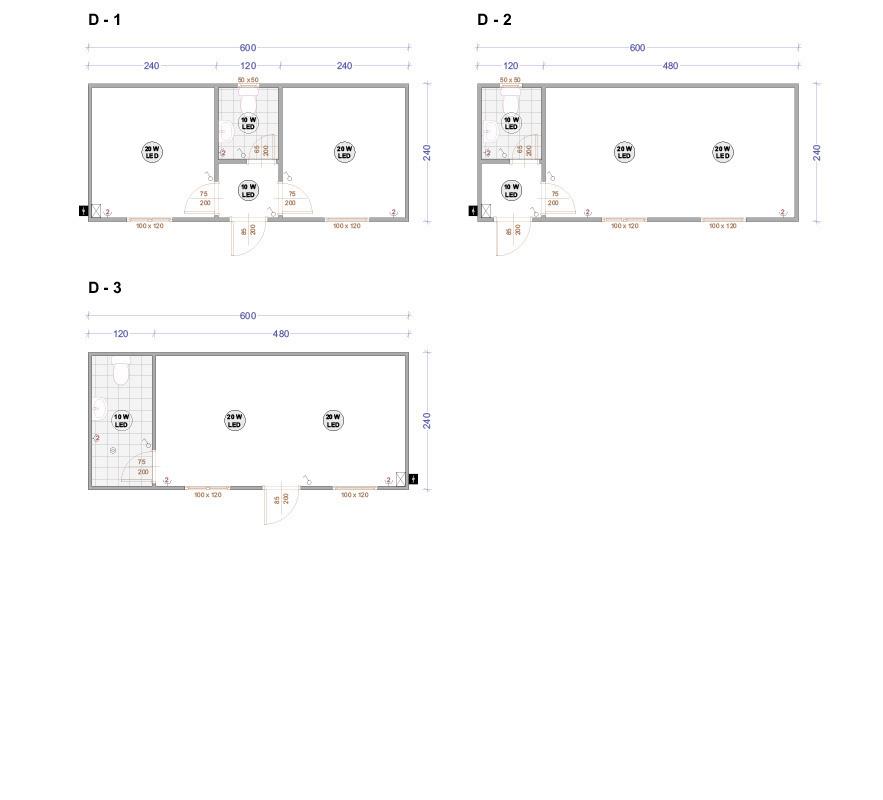 Контейнери със санитарен възел серия Д
